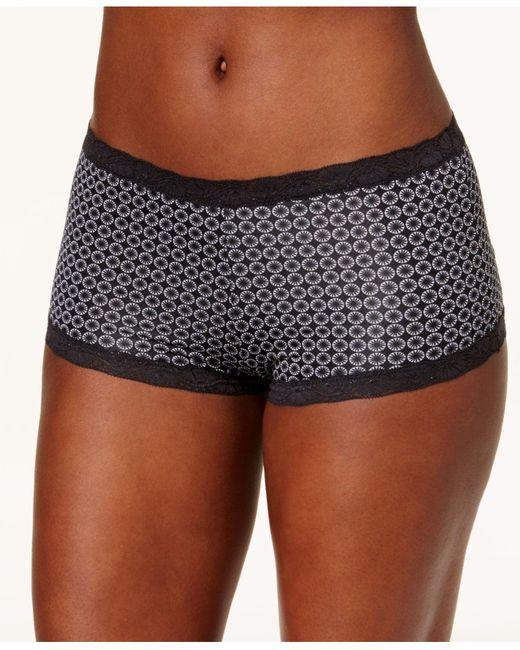 Maidenform Black Microfiber Boyshort Underwear 40760