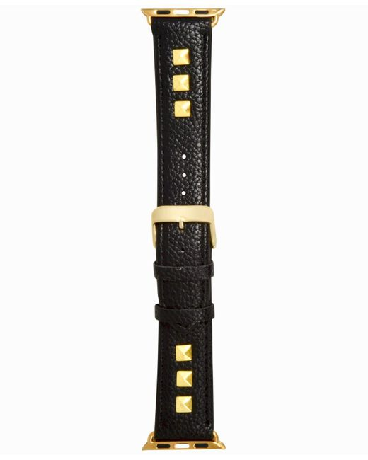INC International Concepts - Black Studded Faux Leather Apple Watch® Strap, Created For Macy's - Lyst