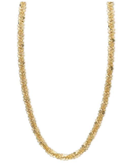 Macy's Metallic 14k Gold Necklace, Faceted Chain