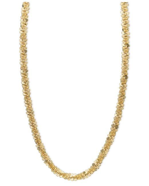 Macy's - Metallic 14k Gold Necklace, Faceted Chain - Lyst