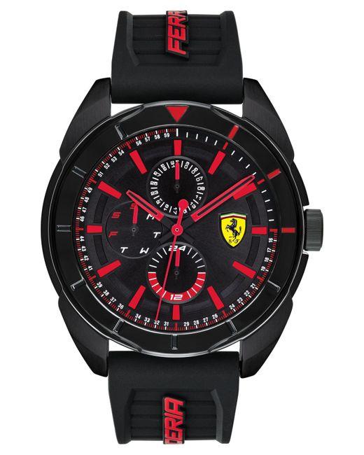 Ferrari - Forza Black Silicone Strap Watch 45mm for Men - Lyst