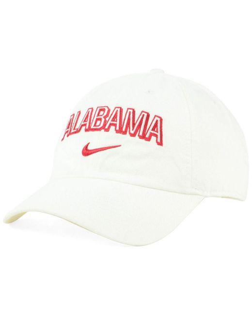 size 40 592ce 469aa ... Nike - White Alabama Crimson Tide H86 Wordmark Swoosh Cap for Men -  Lyst ...