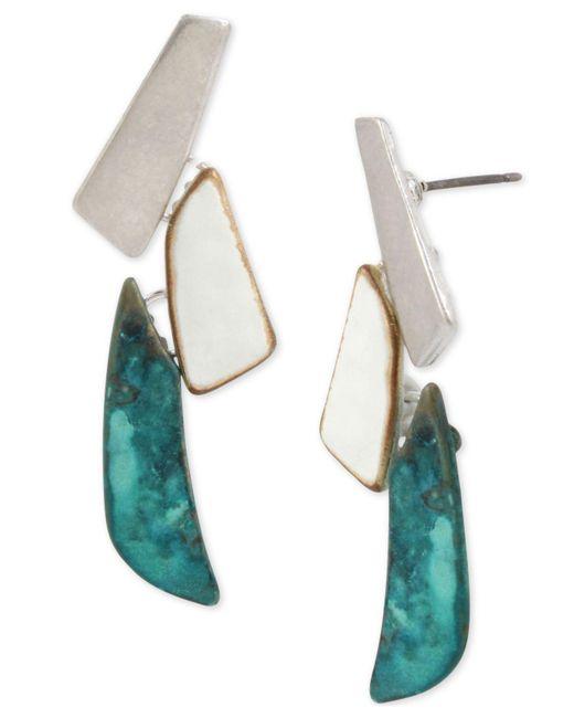 Robert Lee Morris - Blue Tri-tone Sculptural Drop Earrings - Lyst