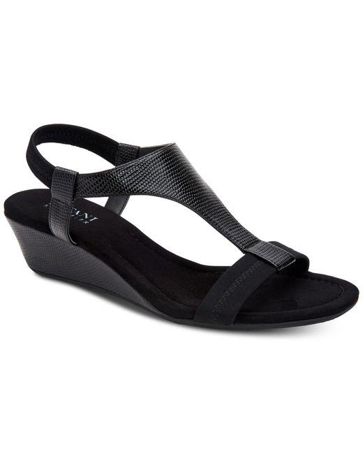 Alfani Black Vacanza Wedge Sandals
