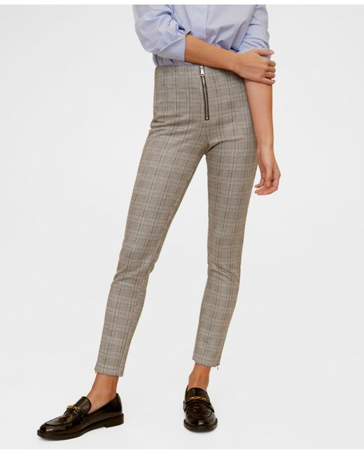 Mango Multicolor Zip-pocket Slim-fit Trousers