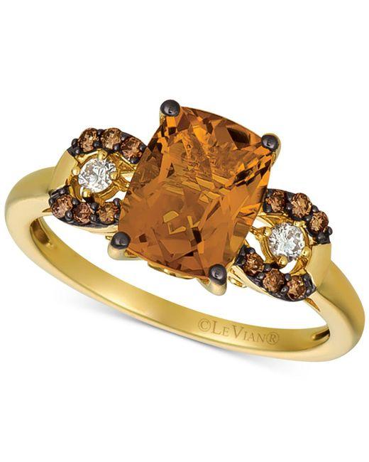 Le Vian - Metallic ® Citrine (1-9/10 Ct. T.w.) & Diamond (1/8 Ct. T.w.) Ring In 14k Gold - Lyst