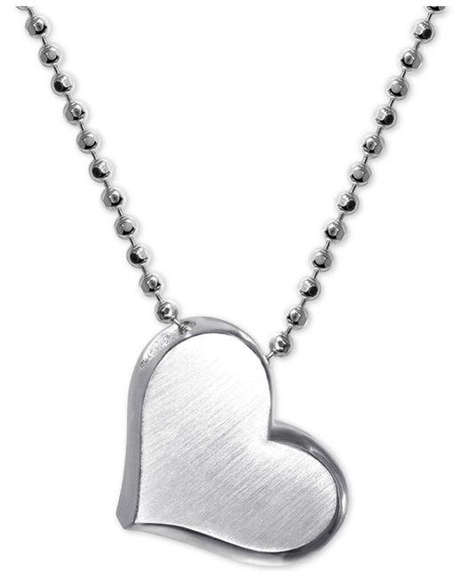 "Alex Woo - Metallic Heart 16"" Pendant Necklace In Sterling Silver - Lyst"