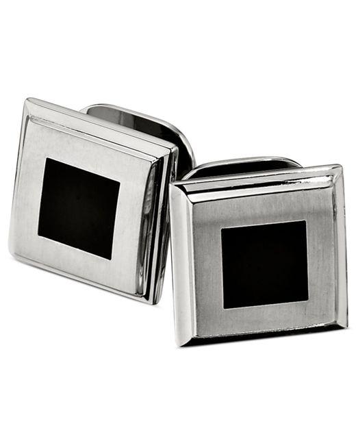 Macy's | Multicolor Stainless Steel Studs Set, Black Enamel Set Of Four Studs for Men | Lyst