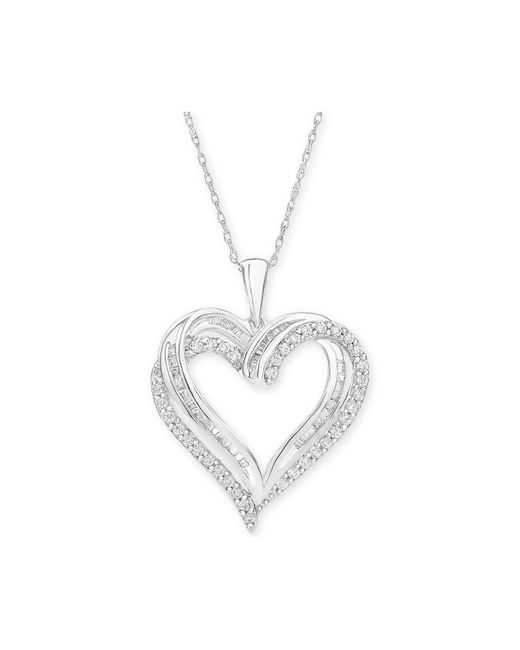 Macy's - Multicolor Diamond Heart Pendant Necklace (1/2 Ct. T.w.) - Lyst