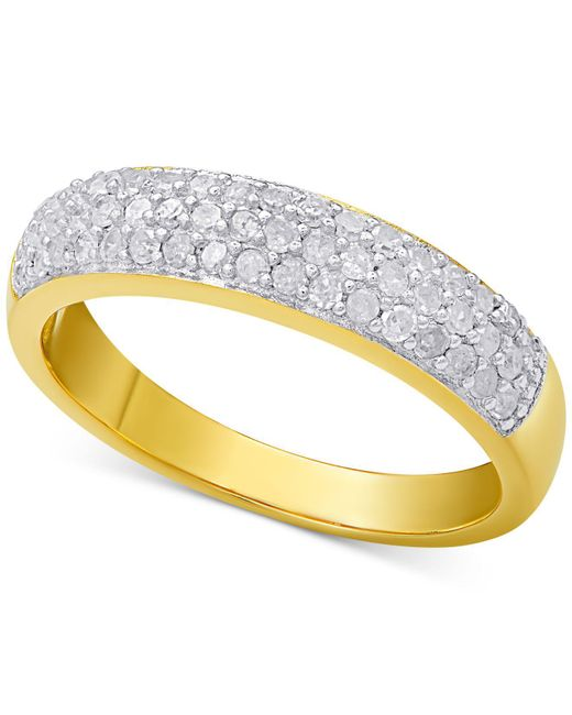 Macy's | Metallic Diamond Pavé Ring (1/2 Ct. T.w.) | Lyst