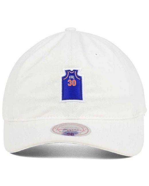 448a869d0ed2b ... coupon for mitchell ness white bernard king new york knicks deez jersey dad  cap for men