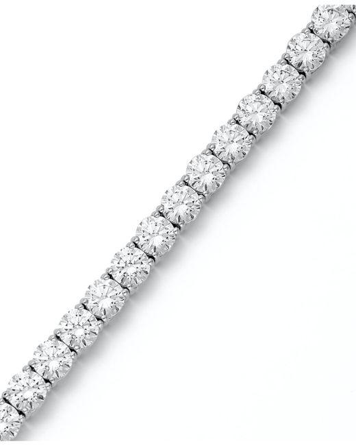 Arabella - Metallic Sterling Silver Bracelet, Swarovski Zirconia Tennis Bracelet (31 Ct. T.w.) - Lyst