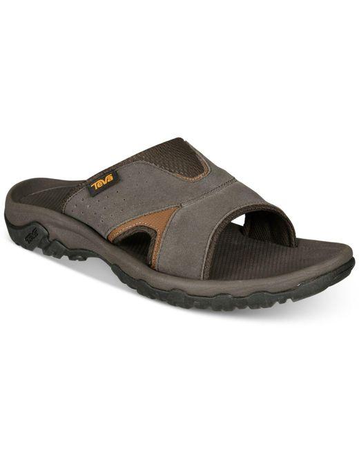 Teva Brown Katavi 2 Water-resistant Slide Sandals for men