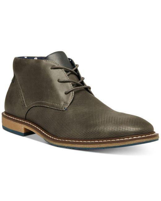 Steve Madden Gray Suodo Dress Casual Chukka Boots for men