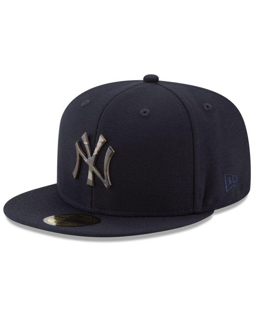 7bb9a864 KTZ - Blue New York Yankees Camo Capped 59fifty-fitted Cap for Men - Lyst  ...