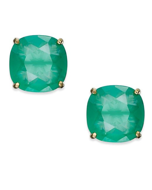 Kate Spade - Green Square Stud Earrings - Lyst