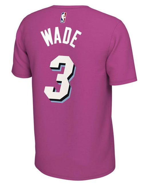 73147adcbd13 ... Nike - Pink Dwyane Wade Miami Heat Earned Edition Player T-shirt for  Men ...