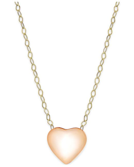 Macy's | Metallic Heart Pendant Necklace In 10k Rose Gold | Lyst