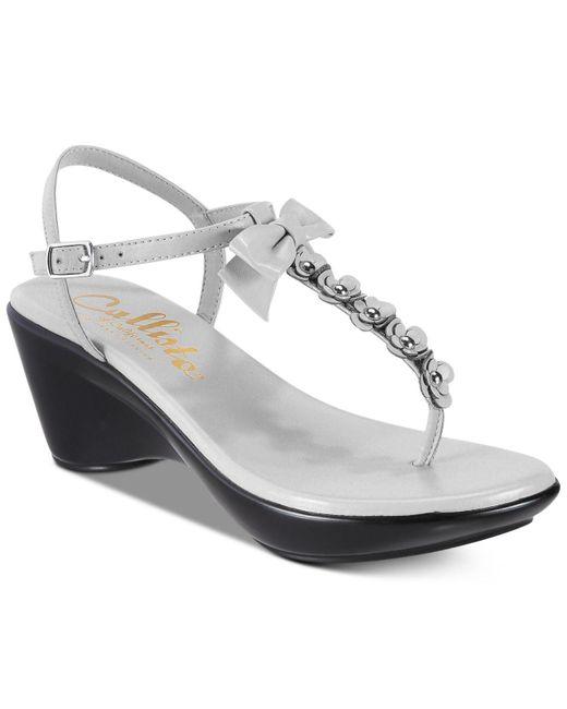 Callisto | Gray Laureen Platform Wedge Sandals | Lyst