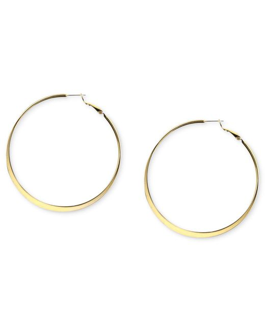 Nine West | Metallic Earrings, Gold-tone Hoop Earrings | Lyst