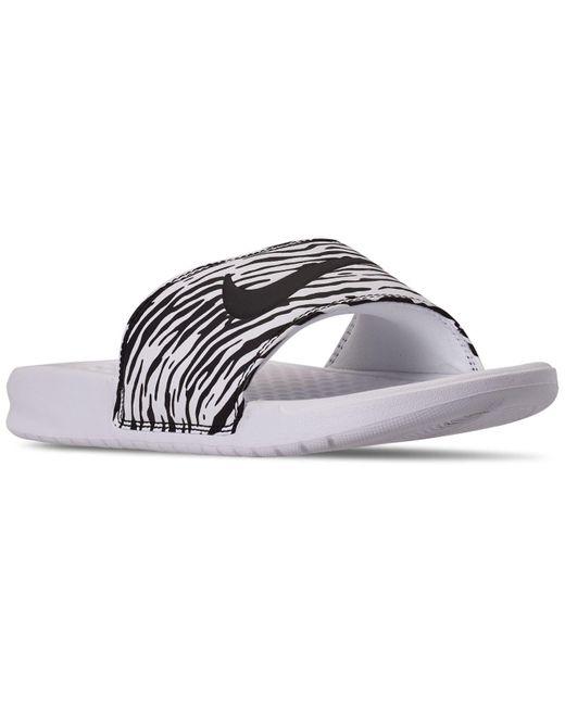 Nike Multicolor Benassi Jdi Print Slide Sandals From Finish Line