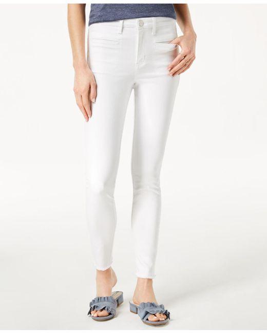 Maison Jules - White Frayed-hem Skinny Jeans, Created For Macy's - Lyst