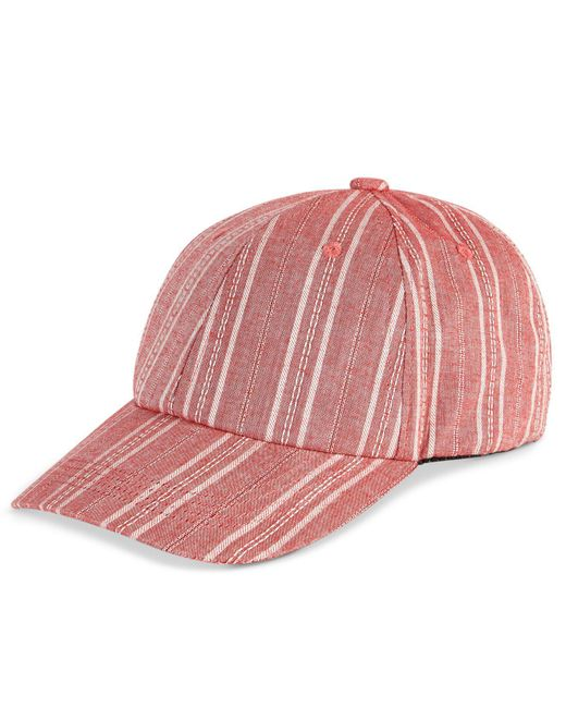 INC International Concepts | Red Striped Cotton Baseball Cap | Lyst