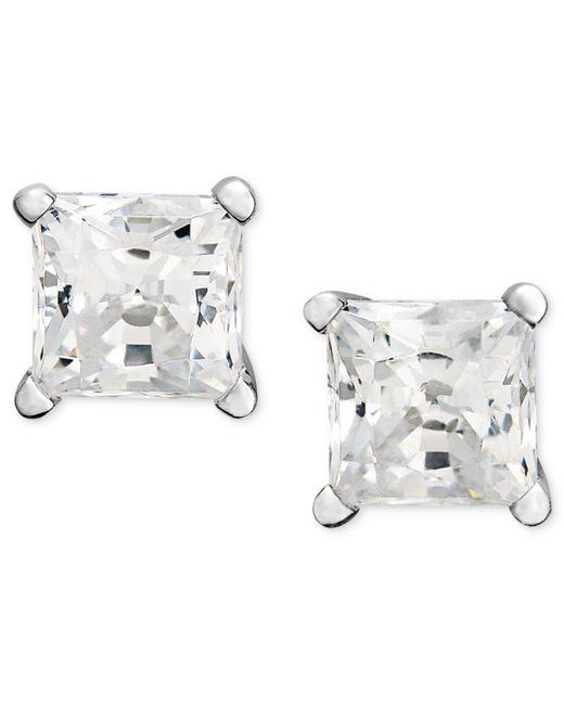 Macy's - Metallic Princess-cut Diamond Stud Earrings In 14k White Gold (1-1/4 Ct. T.w.) - Lyst
