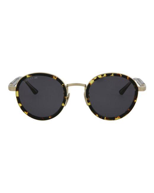 Gucci Multicolor Round Titanium Sunglasses for men