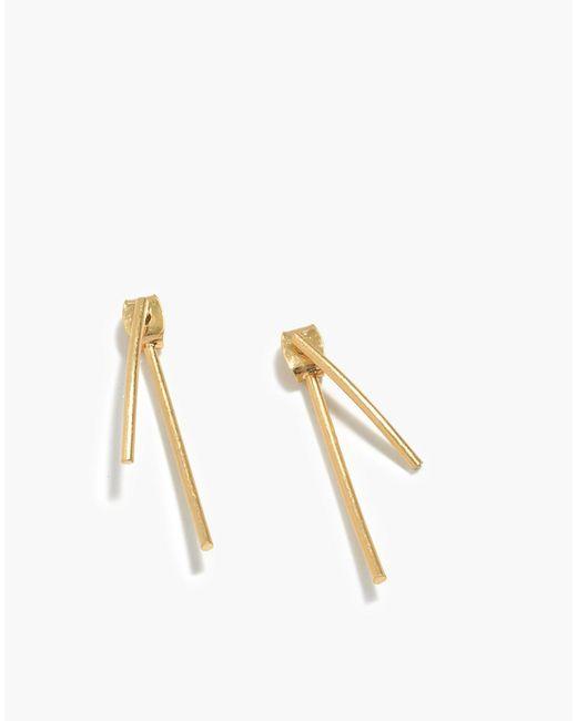 Madewell Metallic Stembend Earrings