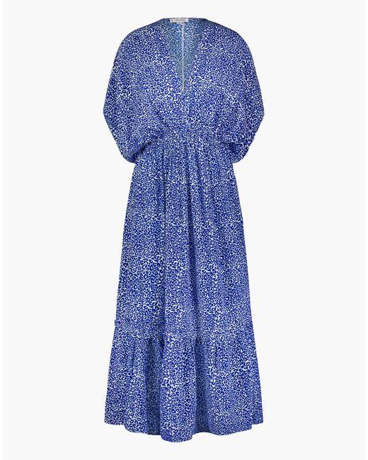 MW Blue Lemlemtm Halima Plunge-neck Dress