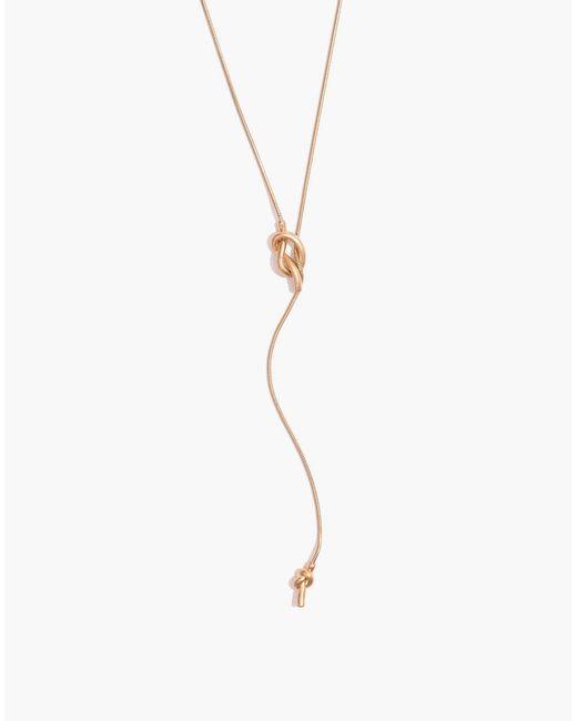 Madewell - Metallic Knotshine Necklace - Lyst