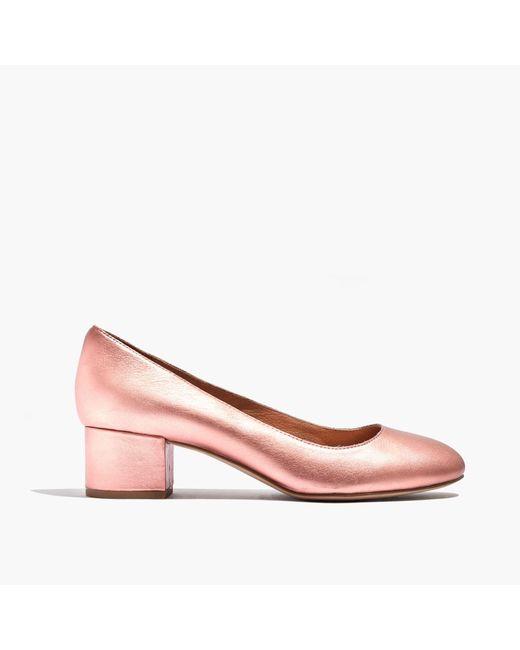 Madewell | Pink The Ella Pump In Metallic | Lyst