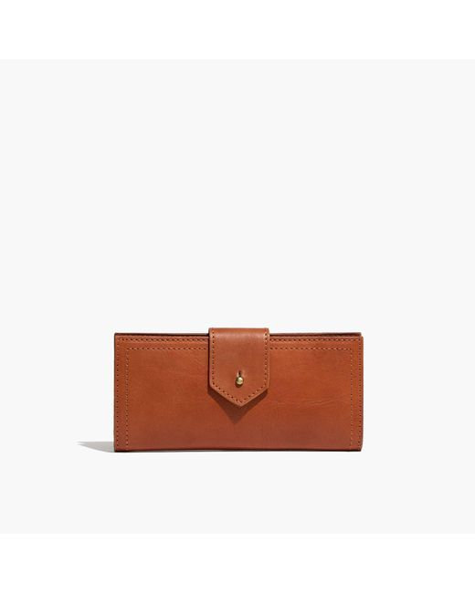 Madewell | Brown The Post Wallet | Lyst
