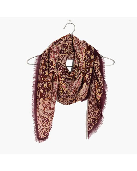 Madewell | Multicolor Square Border Scarf | Lyst