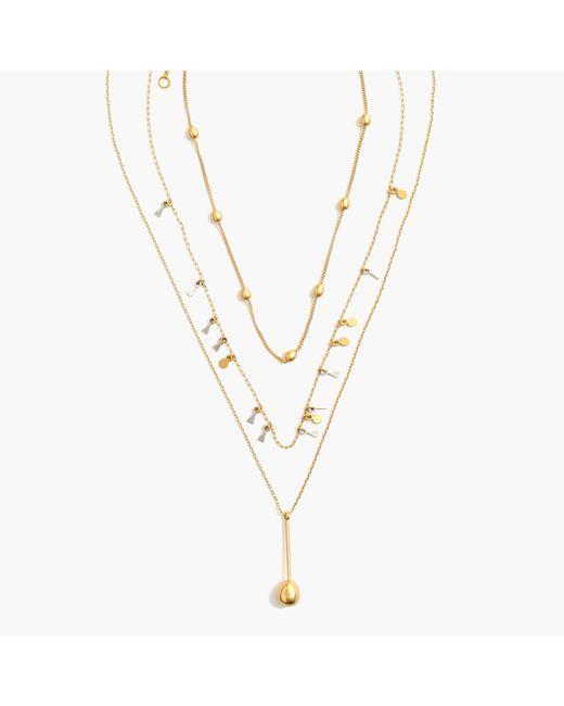 Madewell | Metallic Sestina Necklace Set | Lyst
