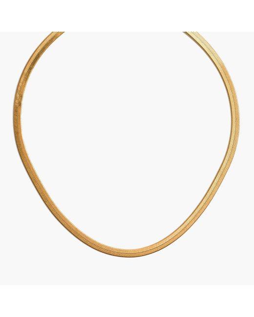 Madewell | Metallic Herringbone Chain Necklace | Lyst