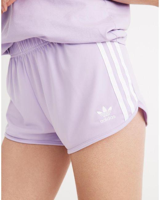 Madewell Purple Adidas® Three-stripe Shorts