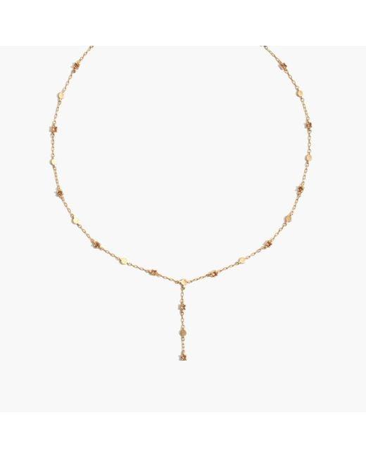 Madewell | Metallic Gemline Lariat Necklace | Lyst