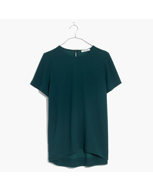 Madewell - Green Tailored Tee - Lyst