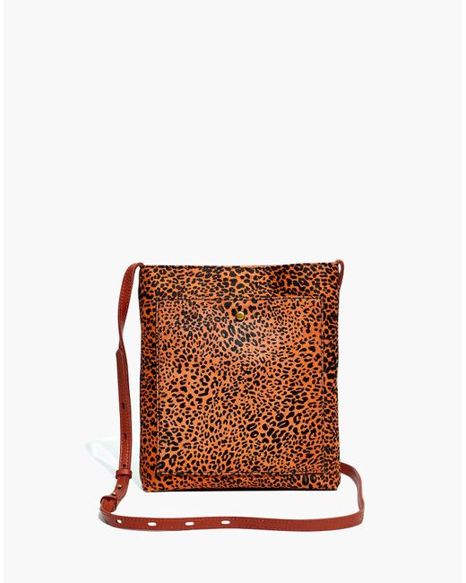 Madewell Multicolor The Slim Brooklyn Crossbody Bag In Mini Leopard Calf Hair