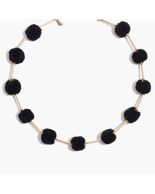 Madewell | Black Pom-pom Necklace | Lyst