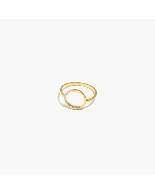 Madewell | Metallic Luster Circle Ring | Lyst