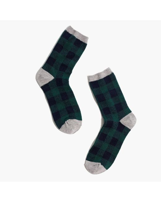 Madewell | Green Buffalo Check Trouser Socks | Lyst