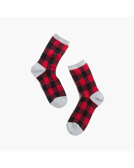 Madewell | Red Buffalo Check Trouser Socks | Lyst