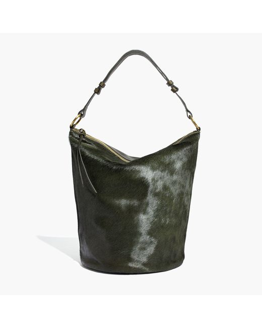 The Lisbon O Ring Bucket Bag In Suede