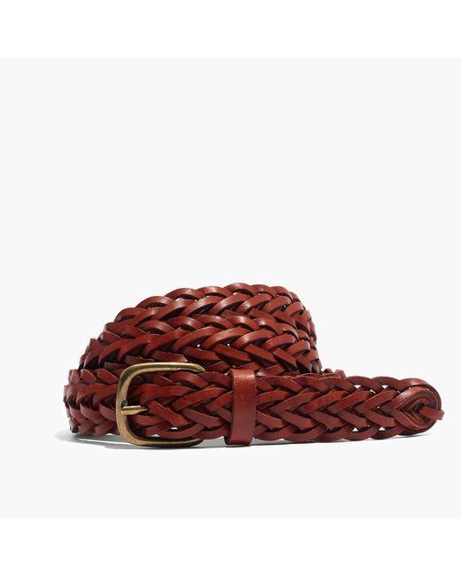 Madewell | Brown Leather Multi-strand Braided Belt | Lyst