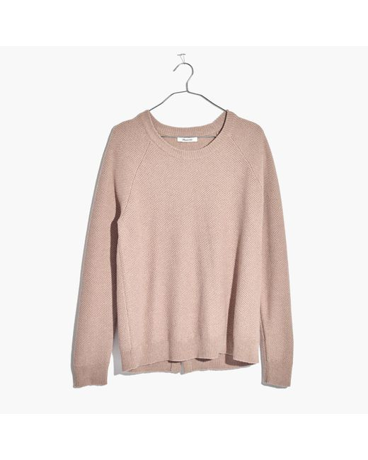 Madewell | Pink Province Cross-back Pullover Sweater | Lyst