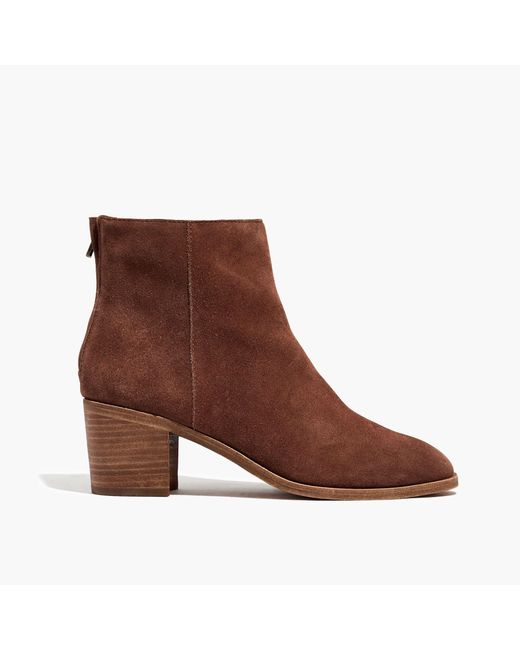 Madewell   Brown The Pauline Boot In Suede   Lyst