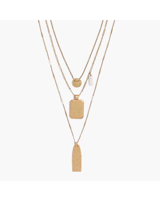 Madewell   Metallic Treasure Pendant Necklace Set   Lyst